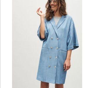 Anthropologie Maeve Helmi Striped Blazer Dress